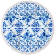Sand Dollar Delight Pattern 6 Round Beach Towel
