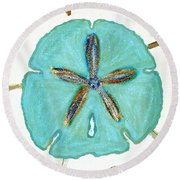 Sand Dollar Star Attraction Round Beach Towel