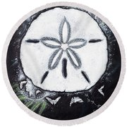 Sand Dollars Round Beach Towel