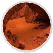 Sand Dune Arch - Arches National Park - Utah Round Beach Towel