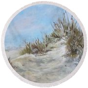 Sand Dunes And Salty Air Round Beach Towel