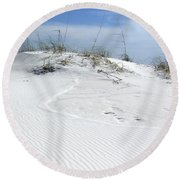 Round Beach Towel featuring the photograph Sand Dunes Dream 2 by Marie Hicks