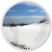 Sand Dunes Dream Round Beach Towel