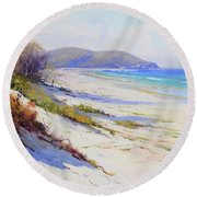 Sand Dunes Port Stephens Nsw Round Beach Towel