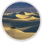 Sand Dunes Sunrise Round Beach Towel