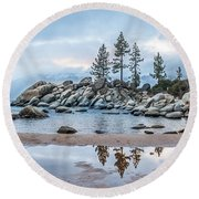 Sand Harbor Round Beach Towel
