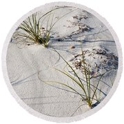 Sand Patterns Round Beach Towel by Jan Amiss Photography