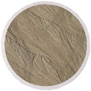 Round Beach Towel featuring the photograph Sand Patterns by Living Color Photography Lorraine Lynch