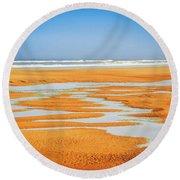 Sand Patterns No.2 Round Beach Towel