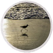 Sand Piper Dash Round Beach Towel