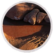 Sand Puddle Round Beach Towel