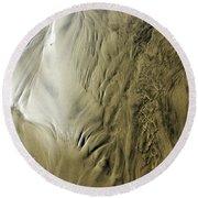 Sand Sculpture 3 Round Beach Towel