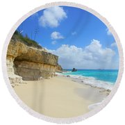Sand Sea And Sky Round Beach Towel by Expressionistart studio Priscilla Batzell