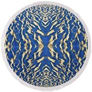 Sand Shadow Matrix Round Beach Towel