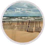 Sandblasted Round Beach Towel