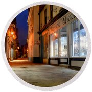 Sandgate, Whitby At Night Round Beach Towel