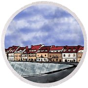 Sandomierz City Round Beach Towel