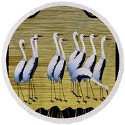 Sandpipers II Round Beach Towel