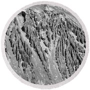 Sands Of Time Monochrome Art By Kaylyn Franks  Round Beach Towel