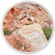 Round Beach Towel featuring the photograph Sandstone Arrowhead In Valley Of Fire by Ray Mathis