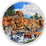 Sandstone Crossing Round Beach Towel