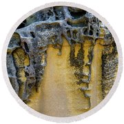 Round Beach Towel featuring the photograph Sandstone Detail Syd01 by Werner Padarin