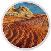 Sandstone Ropes Round Beach Towel