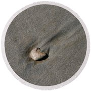 Sandstone Round Beach Towel by Victoria Harrington