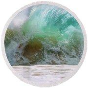 Sandy Beach Surf Round Beach Towel