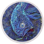 Sandy Fish Round Beach Towel