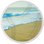 Sandy Hook Beach, New Jersey, Usa Round Beach Towel