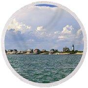 Sandy Neck Cottage Colony Round Beach Towel
