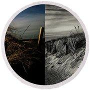 Sandy Neck Dunes Winter Light 2x Round Beach Towel
