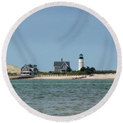 Sandy Neck Light Early June Round Beach Towel
