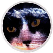 Sandy Paws Round Beach Towel