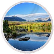 Sandy Stream Pond Baxter Sp Maine Round Beach Towel