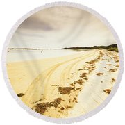 Sandy Tasmanian Shores Round Beach Towel