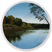 Sangamon Solitude Round Beach Towel