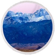 Sangre De Christo And The Great Sand Dunes National Park Round Beach Towel