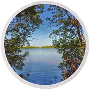 Sanibel Bay View Round Beach Towel