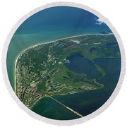 Sanibel Island, Fl Round Beach Towel by Skip Willits