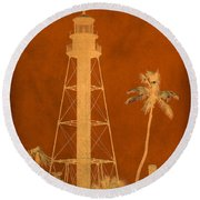 Sanibel Island Lighthouse Round Beach Towel