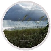 Sanibel Sea Grasses Round Beach Towel