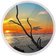 Sanibel Sunrise Round Beach Towel