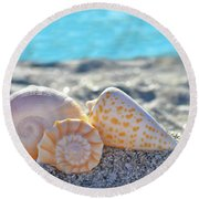 Sanibel Treasures  Round Beach Towel