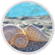 Sanibel Treasures  Round Beach Towel