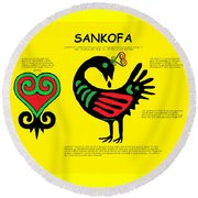 Sankofa Knowledge Round Beach Towel