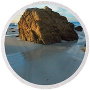 Santa Barbara Coast Round Beach Towel