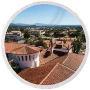Santa Barbara From Above Round Beach Towel