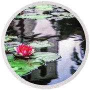Round Beach Towel featuring the photograph Santa Barbara Lily by Samuel M Purvis III